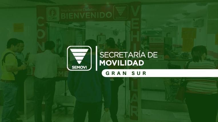 Dónde queda la Semovi Gran Sur en Ciudad de México