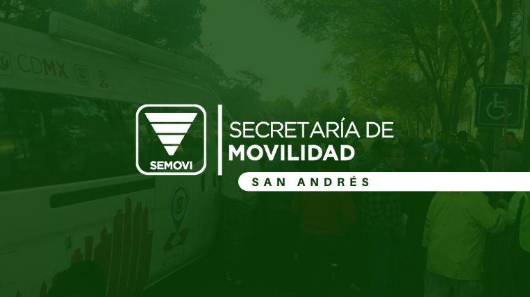 Dónde queda la Semovi San Andrés en Ciudad de México